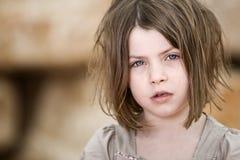 白肤金发的儿童不整洁的年轻人 库存图片