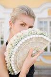 白肤金发的典雅的女孩 库存照片
