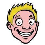 白肤金发的动画片人题头 向量例证