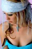白肤金发的吉普赛女孩 库存图片