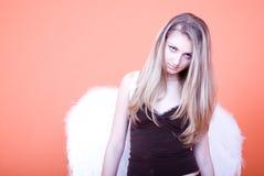 白肤金发的天使 库存照片