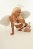 白肤金发的天使 库存图片