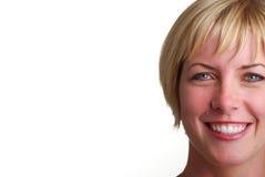 白肤金发的夫人微笑的年轻人 库存照片