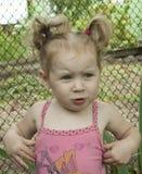 白肤金发的女孩一点 免版税库存图片