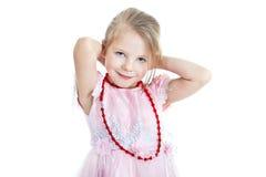 白肤金发的女孩少许纵向 免版税库存照片