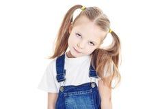 白肤金发的女孩少许纵向 免版税库存图片