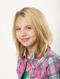 白肤金发的女孩年轻人 图库摄影