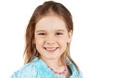 白肤金发的女孩微笑的一点 免版税库存照片