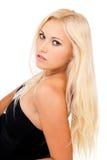 白肤金发的女孩特写镜头纵向  库存照片