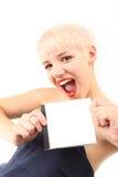 白肤金发的女孩纵向 免版税库存图片