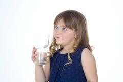 白肤金发的女孩配置文件 免版税图库摄影
