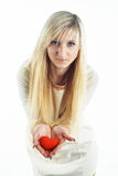 白肤金发的女孩年轻人 库存图片