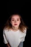 白肤金发的女孩头发 免版税库存照片