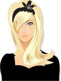 白肤金发的女孩 向量例证