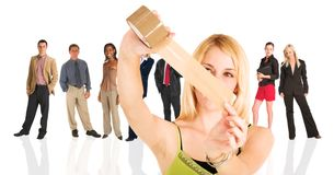 白肤金发的女实业家 免版税库存照片