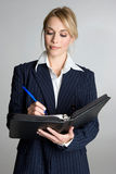 白肤金发的女实业家 免版税库存图片