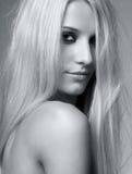 白肤金发的妇女 库存照片