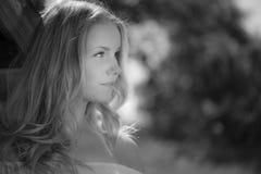 白肤金发的妇女 图库摄影