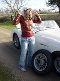 白肤金发的平面的运动的轮胎 免版税图库摄影