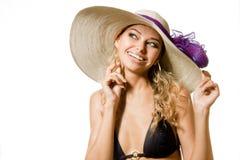 白肤金发的性感的妇女年轻人 免版税图库摄影