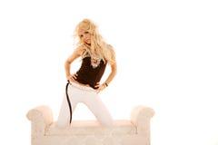 白肤金发的性感的妇女 免版税库存照片