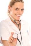 白肤金发的护士 库存图片