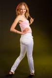白肤金发的时装模特儿年轻人 库存照片