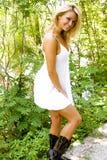 白肤金发的时装模特儿 库存图片