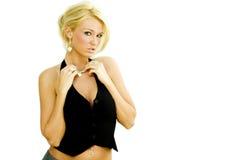 白肤金发的时装模特儿 免版税库存照片
