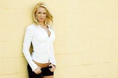 白肤金发的时装模特儿 免版税库存图片