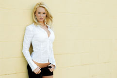白肤金发的时装模特儿 图库摄影