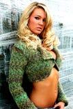 白肤金发的时髦的女人年轻人 免版税库存图片