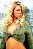白肤金发的时髦的女人 免版税库存照片