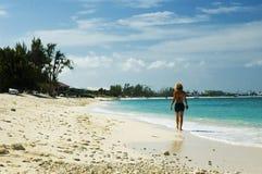 白肤金发的海滩 库存图片