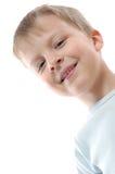 白肤金发的男孩一点 库存照片