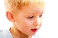 白肤金发的男孩儿童孩子学龄前儿童画象  免版税图库摄影
