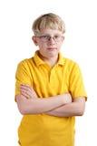 白肤金发的男孩年轻人 库存图片