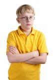 白肤金发的男孩年轻人 图库摄影