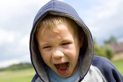 白肤金发的男孩画象  免版税库存图片