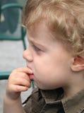 白肤金发的男孩 图库摄影
