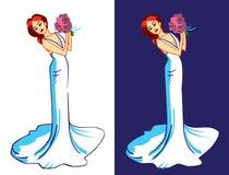 白肤金发的礼服婚礼年轻人 库存图片
