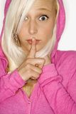 白肤金发的纵向妇女 免版税图库摄影