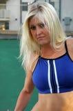 白肤金发的网球 免版税库存图片