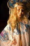 白肤金发的舞蹈演员俄语 免版税库存图片