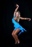 白肤金发的舞蹈演员拉丁 免版税图库摄影
