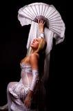 白肤金发的舞蹈演员梦想性感 库存图片