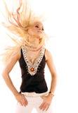 白肤金发的跳舞性感的妇女 免版税库存图片