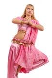白肤金发的逗人喜爱的舞蹈演员 库存照片