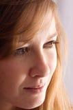 白肤金发的配置文件妇女 图库摄影