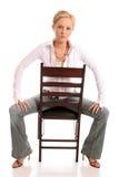 白肤金发的chair1 免版税库存照片